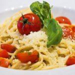 Rote Linsen Pesto mit Spaghetti